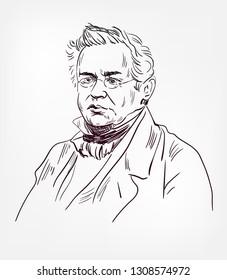 Heinrich Friedrich Emil Lenz vector sketch portrait