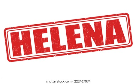 Helena grunge rubber stamp on white background, vector illustration