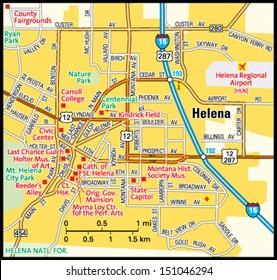 Helena, Montana area map