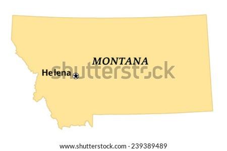 Helena Montana Locate Map Stock Vector (Royalty Free) 239389489 ...