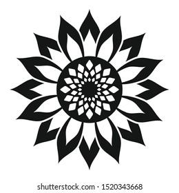 Helianthus flower icon. Simple illustration of helianthus flower vector icon for web design isolated on white background