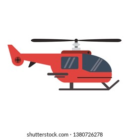 Helicopter aircraft vehicle symbol flat