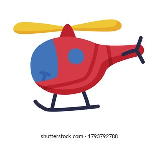 Helicopter Baby Toy, Cute Object for Kids Development and Entertainment Cartoon Vector Illustration