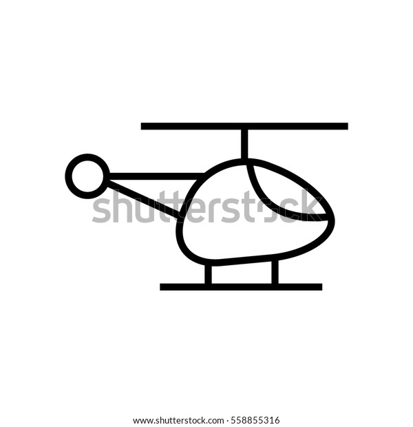 Helicopter Clipart Stock Vector (Royalty Free) 558855316