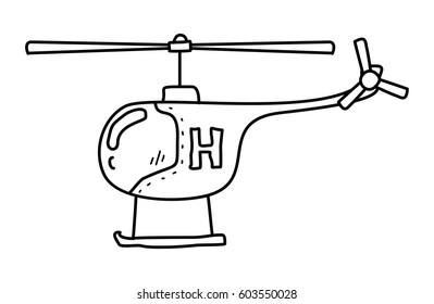 Helicopter Sketch Images, Stock Photos & Vectors | Shutterstock