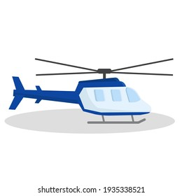 helicopter flat icon illustration of vector graphic