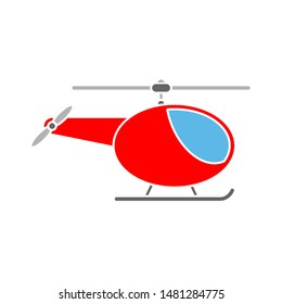 helicopter icon. flat illustration of helicopter vector icon. helicopter sign symbol