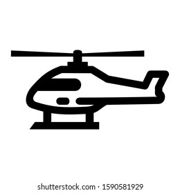 helicopter icon isolated sign symbol vector illustration - high quality black style vector icons