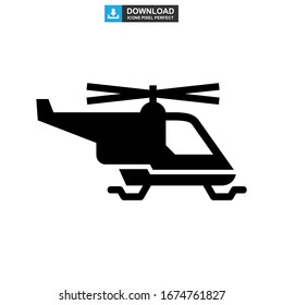 helicopter icon or logo isolated sign symbol vector illustration - high quality black style vector icons