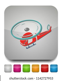 helicopter icon, vector copter, helicopter airline transportation