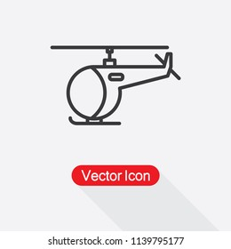 Helicopter Icon Vector Illustration Eps10