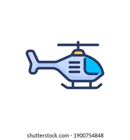helicopter icon in vector. Logotype