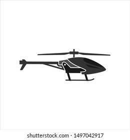 Helicopter Logo. RC Game Symbol. Icon Vector Eps 10.