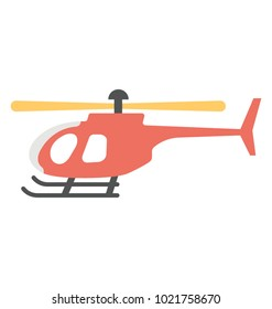 Helicopter vector icon in flat design