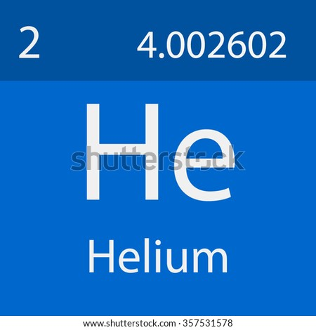 Helium Chemical Symbol Stock Vector Royalty Free 357531578