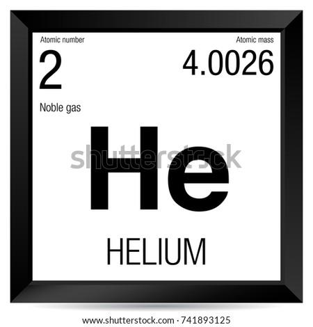 Helium Symbol Element Number 2 Periodic Stock Vector Royalty Free
