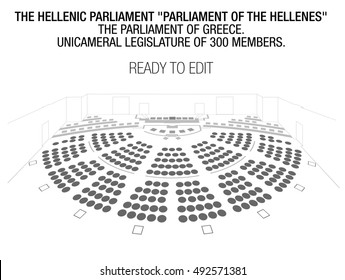 The Hellenic Parliament or Parliament of the Hellenes, is the parliament of Greece. Editable Seats. 300 Seats. Seating Plan. Perspective.