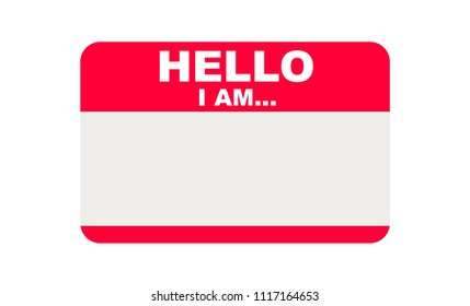 Hello, I am..., Sticker Vector
