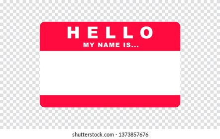 Hello, I am..., Sticker Vector, Isolated