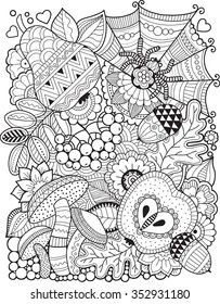 Coloring Page Adult Autumn Images Stock Photos Vectors Shutterstock