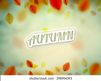 Hello autumn, nature background, eps 10