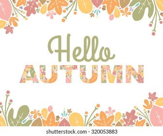 Hello Autumn Text Background