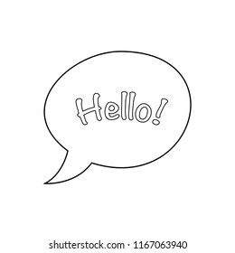 Hello chat bubble