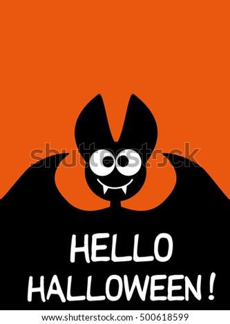 hello halloween background idea festive printed stock vector