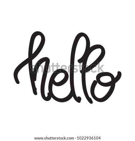 hello hand writing script style stock vector royalty free