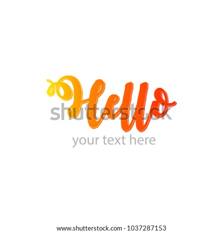 hello letter design template yellow letter hellow hellow lettering