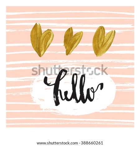 hello modern greeting card template cute stock vector royalty free