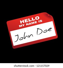 """""""hello my name is"""" card/sticker"""