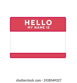 Hello My Name Is Name Tag, Name Tag, Name Label, Conference Tag,  Vector Illustration Background
