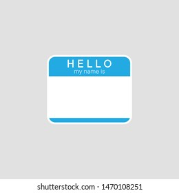 Hello my name is vector icon, introduction banner symbol. Simple, flat design for web or mobile app