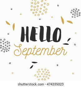 Hello September Card.