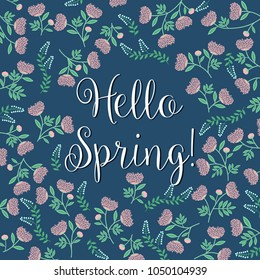 Hello Spring! Floral Vector background - eps10