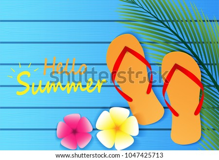 dacab1ad67031 Hello Summer background. travel summer on the Beach concept. layout template