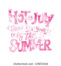 Hello summer banner. Typography poster with sun and lettering. Sunny design for beach party, summer collection clothes, social media content, lettering for prints, cards