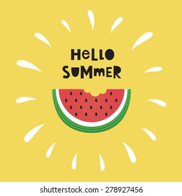 hello summer card design. vector illustration