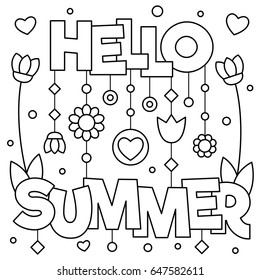 Coloring Pages Summer High Res Stock Images Shutterstock