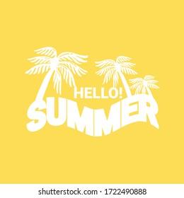 Hello Summer illustration. summer holiday background