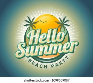 Hello Summer Logo