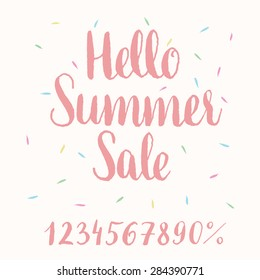 Hello Summer Sale - hand-lettering