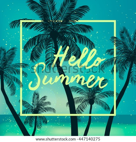 Hello Summer time wallpaper, fun, party, background, picture, art, design