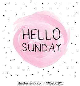 Hello Sunday background design