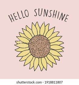 HELLO SUNSHINE SUNFLOWER TSHIRT GRAPHICS DESIGNS