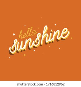 hello sunshine vector card lettering