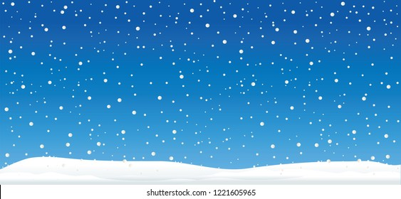 Hello Winter Blue winter landscape funny Snowmen snowman Vector snowdrifts falling snow falling snowflake snowflakes Merry Christmas Happy New Year xmas Shining snowfall snowball balls december snowy