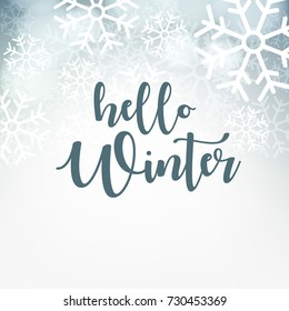 Hello Winter design background, Vector Illustration.