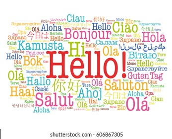 World languages images stock photos vectors shutterstock hello word cloud in different languages of the world background concept m4hsunfo